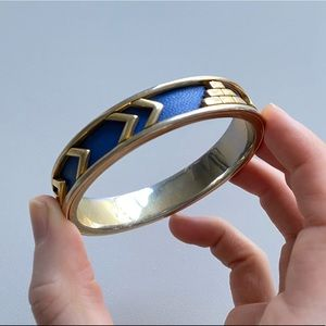 House if Harlow Blue and Gold Bangle